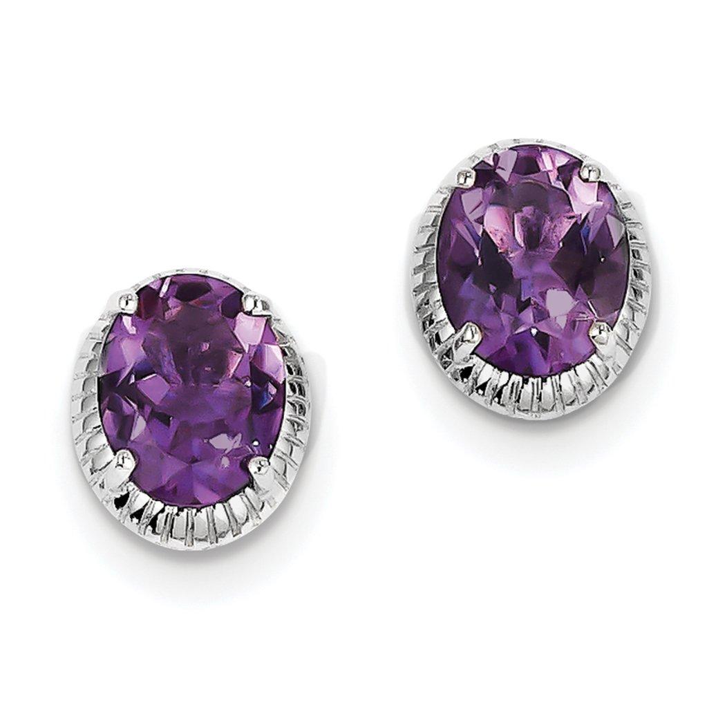 ICE CARATS 925 Sterling Silver Purple Amethyst Post Stud Ball Button Earrings Fine Jewelry Gift Set For Women Heart