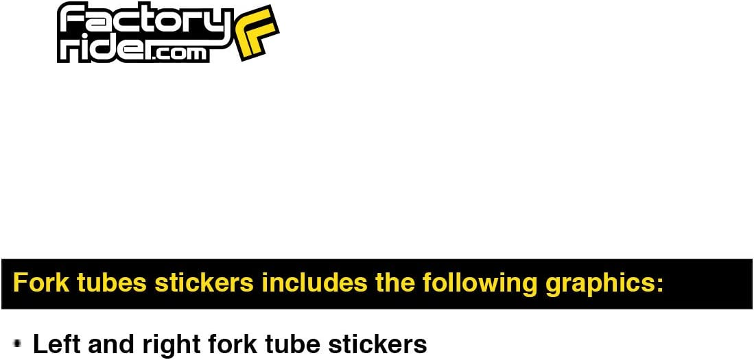 KYB Fork STICKERS Mx Dirt Bike GRAPHICS FITS ALL Bikes CLEAR RED KYB LOGO