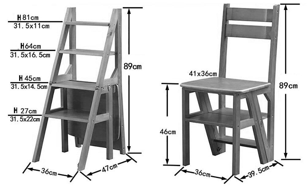 Sgabello Scaletta Pieghevole In Legno.Jjjjd Sgabello Ladder In Legno Massello Sgabello Scaletta Scaletta