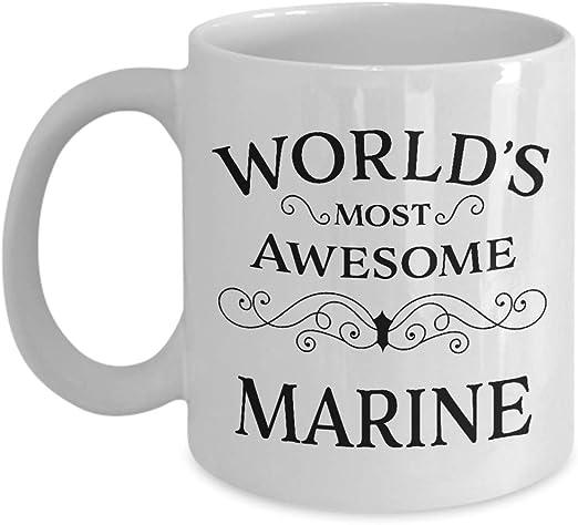 Amazon Com Marine Thank You Gift Ideas For Best Friend Coworker Boss Men Women In Christmas Birthday Appreciation Day Goodbye Retirement Coffee Mug Kitchen Dining