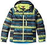youth insulated jacket - 686 Boy's Jinx Insulated Jacket, Blue Bird Stripe Print, Large
