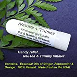 NAUSEA-TUMMY-Aromatherapy-Inhaler-Relief-for-Car-Morning-Sickness-Chemo-Queasiness-Bad-Belly-Migraine-Quease-Medication-illness-Pocket-Purse-Stick-Handy-Portable-Inhale-Deeply-for-fast-relief-100-Natu