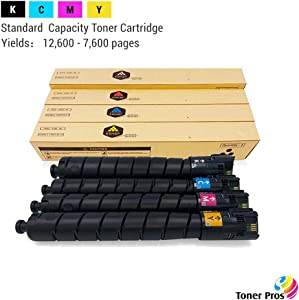 Toner Pros (TM) Remanufactured [Standard Capacity] Toner for Xerox Versalink C8000 Printer (4 Color Pack) - Black 12,600 and Colors 7,600 Pages (106R04037, 106R04034, 106R04035, 106R04036)