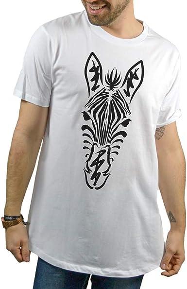 SUPERMOLON Camiseta Blanca Unisex Zebra S Long Blanca: Amazon.es: Ropa y accesorios