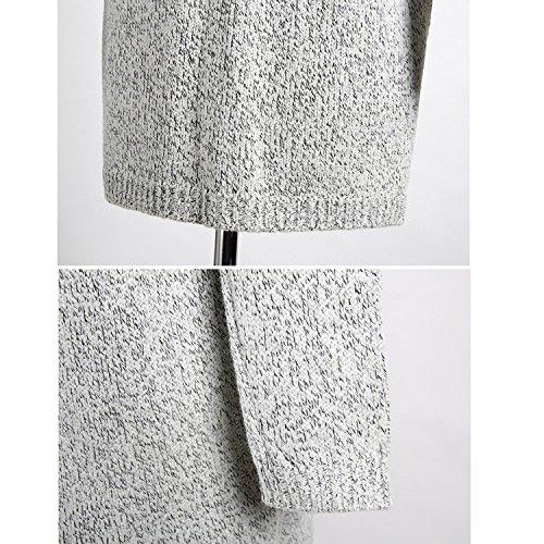 Donna Knit Inverno Autunnali Comode Tasca Lunghe Invernali Maglioni E Cashmere 1 Cappotto Vintage Lunghi Maniche Jltph Elegante Maglione Casual Con Caldo Cardigan 5xqwA6tTn