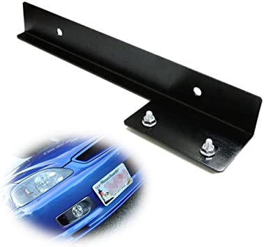 Black Front Bumper License Plate Relocator Bracket Holder JDM Bar for Honda