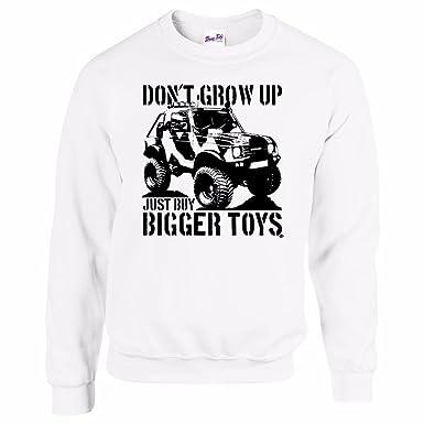 Los Hombres del 4 x 4 Sudadera Comprar Bigger Toys 4 x 4 Off Road Sudaderas # 3 Blanco Blanco Medium: Amazon.es: Ropa y accesorios