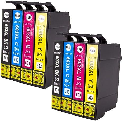Recambios de cartucho de tinta compatibles con Hunpta, 8 cartuchos ...