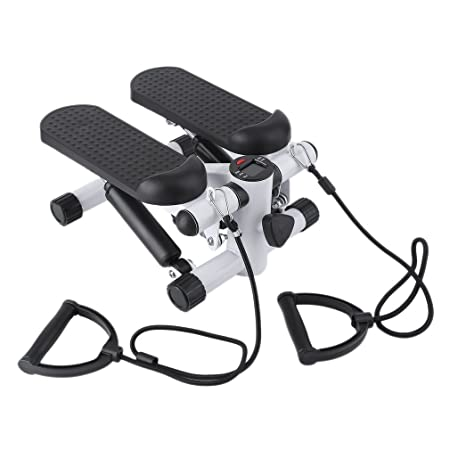 Genuinestore 2018 Air Climber As Seen on TV Air Stepper Climber Exercise Fitness Thigh Machine w Resistance Band