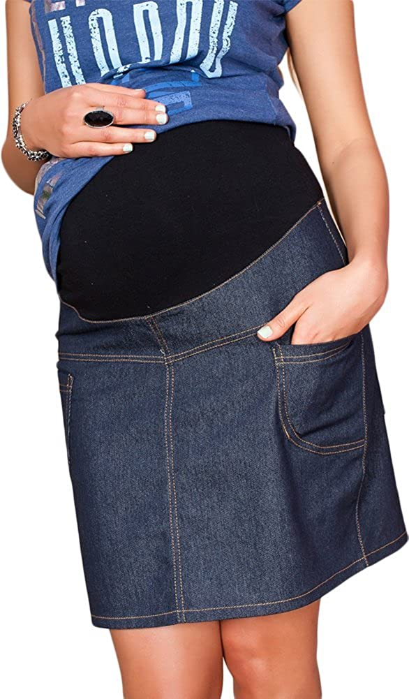 Gonna Denim Jeans Causal Premaman e Gravidanza 9060 Mija