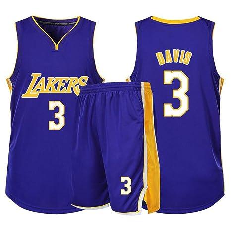 NBA Anthony Davis # 3 Lakers Baloncesto Sin Mangas Clásico ...