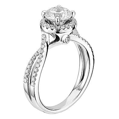 "c41602d2a Scott Kay  ""Luminaire"" Semi Mount Diamond Engagement Ring in 14K  White Gold"
