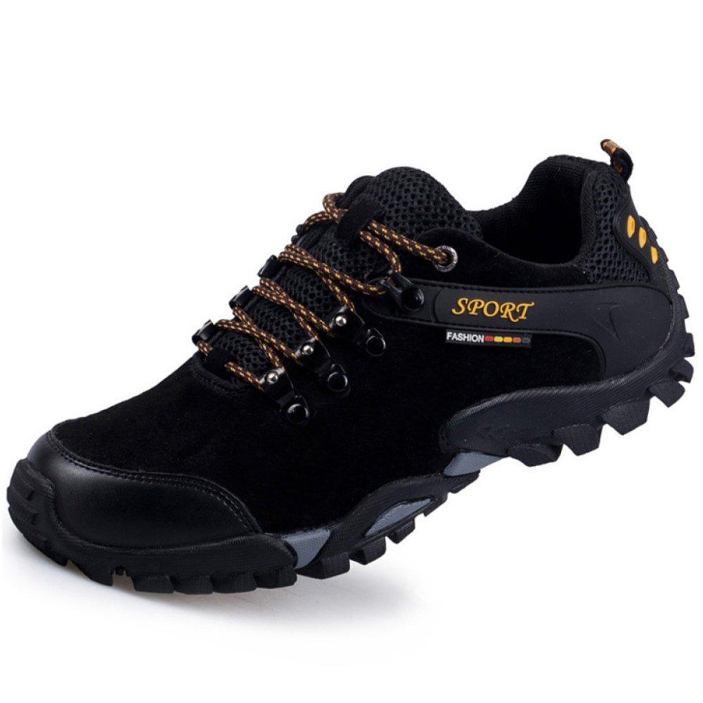 Yra Zapatos Casuales De Escalada Al Aire Libre Para Hombres Zapatos Antideslizantes De Gamuza Para Hombres Zapatos Para Caminar Para Alpinismo Trekking Sneakers 42 Black