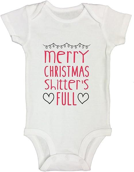 Merry Christmas Shitter/'s Full Baby Bodysuit Long Sleeve Rabbit Skin