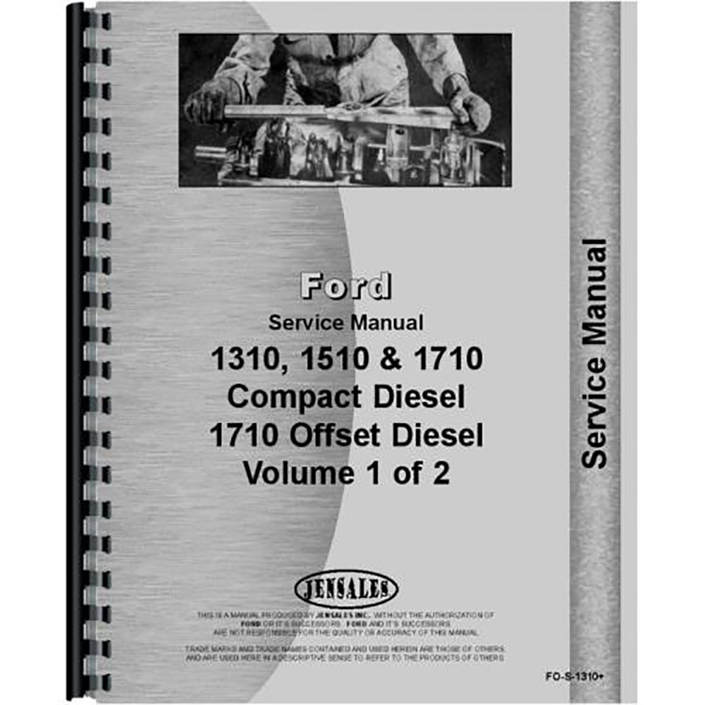 Amazon.com: Ford 1310 1710 Compact Tractor Service Manual: Industrial &  Scientific