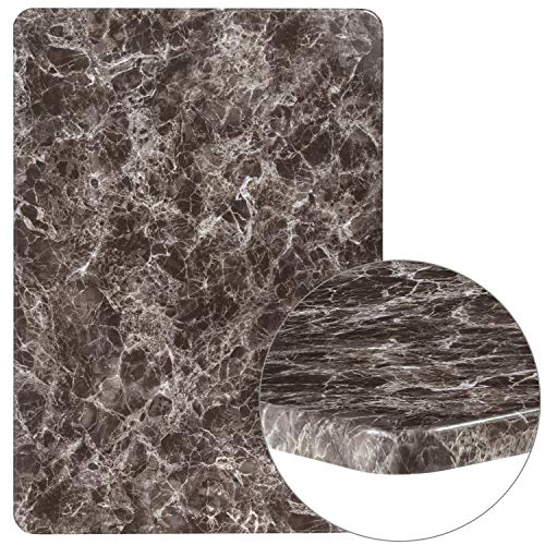 Flash Furniture XU-3042-MAR-GG Marble Laminate Restaurant Table Tops Gray