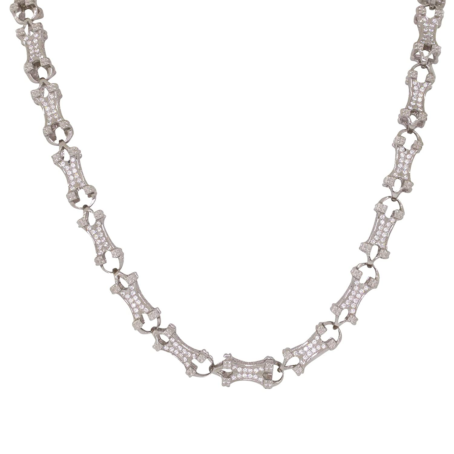 .925 Italy Sterling Silver /& Rhodium Round Box 1.5mm Link Italian Chain Necklace