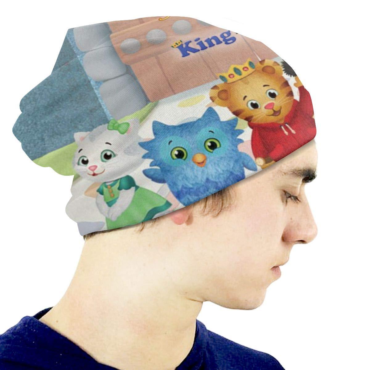 3D Daniel Tigers Neighborhood Unisex Slouchy Knit Beanie Hats Cool Skull Caps for Kids Boys Girls 3-15 Years