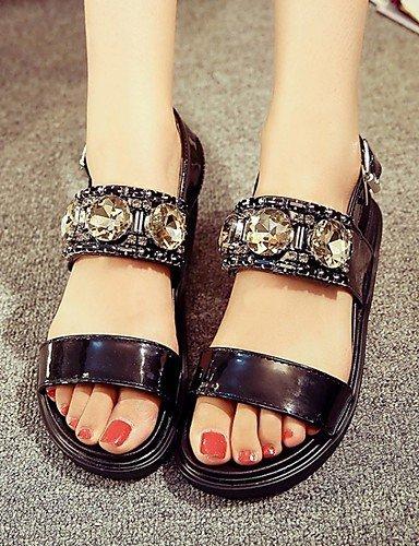 LFNLYX Zapatos de mujer-Tacón Plano-Cuñas / Zapatos y Bolsos a Juego / Comfort / Innovador / Botas a la Moda-Sandalias / Tacones-Boda / Oficina Black
