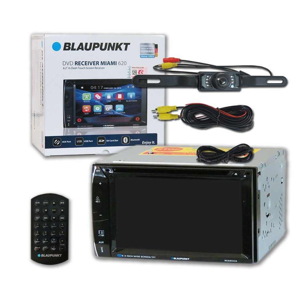 Blaupunkt Car Audio Double Din 2din 62 Touchscreen Dvd Wiring Harness Adapter Ford To Jvc Mp3 Cd Stereo Bluetooth Remote Dco Waterproof Backup Camera With Nightvision