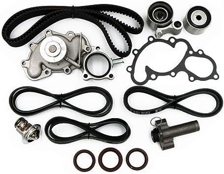 Timing Belt Water Pump Kit fits for 1995 1996 1997 1998 1999 2000 2001 2002 2003 2004 Toyota Tacoma 1996-2002 4Runner 1995-1998 T100 3.5L V6 DOHC 5VZFE 2000-2004 Tundra