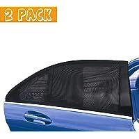 JSAuto Set de 2 Parasol de Coche, Sombrillas de la ventana trasera del coche, persianas universales de la ventana…