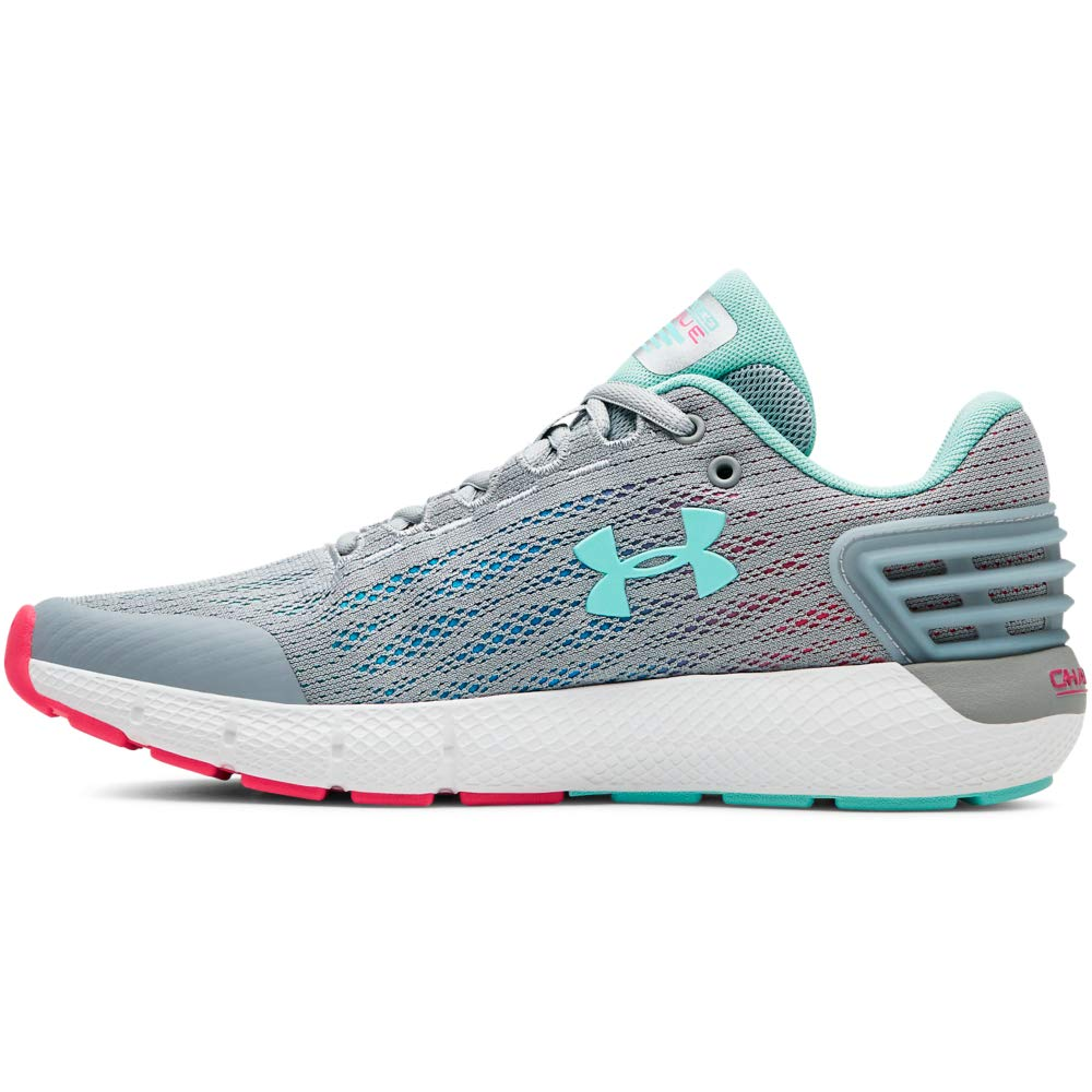 Under Armour Girls' Grade School Charged Rogue Sneaker (101)/Mod Gray, 7