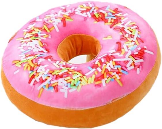 Rose Nunubee Mignon Coussins en Forme de Donuts Coussins de Chaise D/écoratifs Oreillers Jouet en Peluche