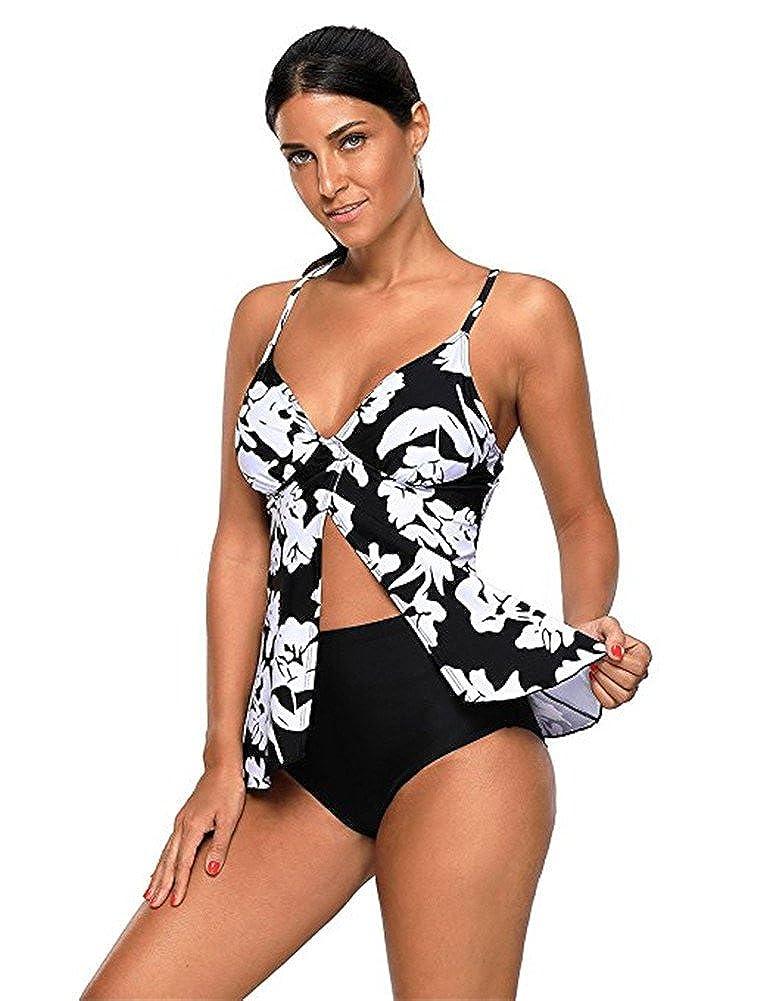 BeneGreat Womens Long Sleeve Rashguard Swimwear Sun-Proof Wetsuit Athletic Tankini BNGSY410466