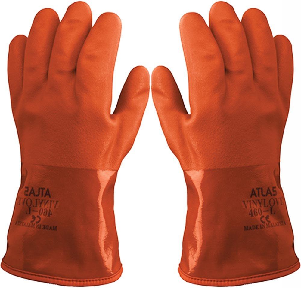 Atlas 460 SINGLE Vinylove Cold Resistant PVC Insulated Freezer Medium Glove
