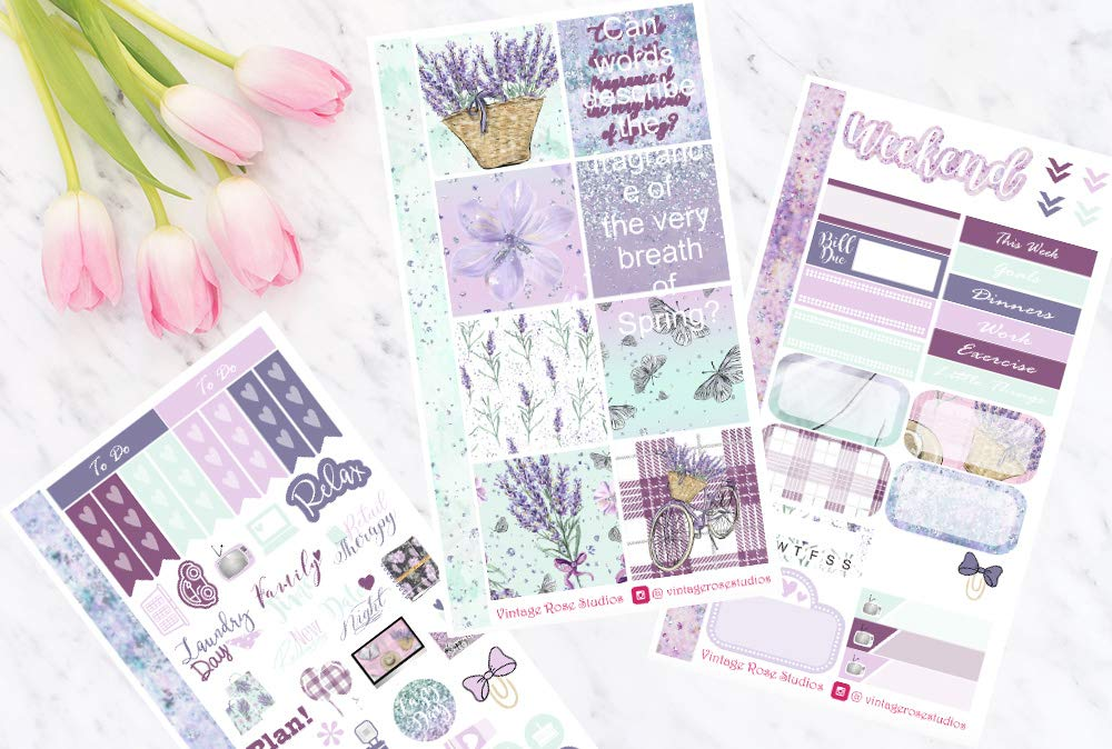 Erin Condren /& Happy Planner SewMuchCrafting Happy Spring Personal Planner Stickers for all Planner Types Notebook