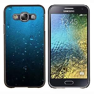 Caucho caso de Shell duro de la cubierta de accesorios de protección BY RAYDREAMMM - Samsung Galaxy E5 E500 - Gotas de agua azul