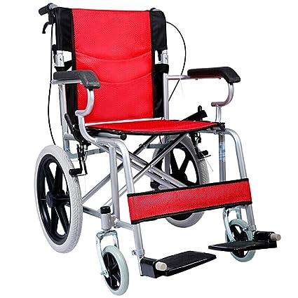 Amazon.com: Silla de ruedas de transporte ACEDA con marco de ...