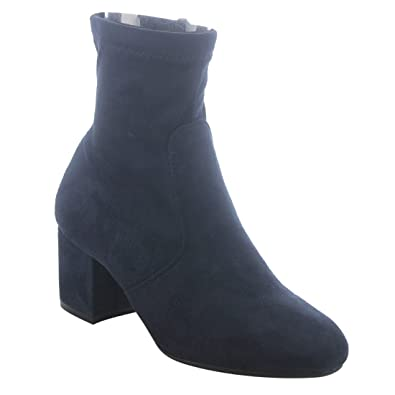 FN09 Women's Side Zipper Wrapped Block Heel Strechy Ankle Booties