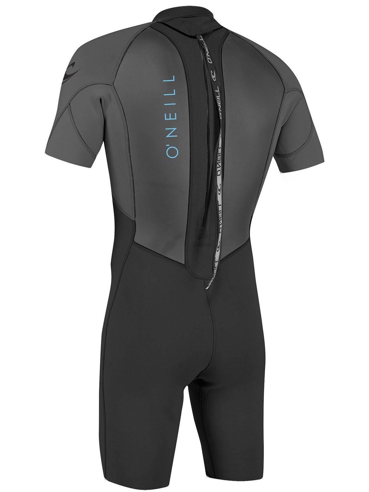 O'Neill Youth Reactor-2 2mm Back Zip Short Sleeve Spring Wetsuit, Black/Graphite, 4 by O'Neill Wetsuits (Image #3)