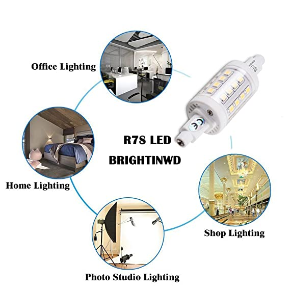 Amazon.com: BRIGHTINWD LED R7S Dimmable R7S LED 118mm Bulb 950-1000LM Warm White R7s Replaceable Bulbs with 3 Years Warranty: Home Improvement