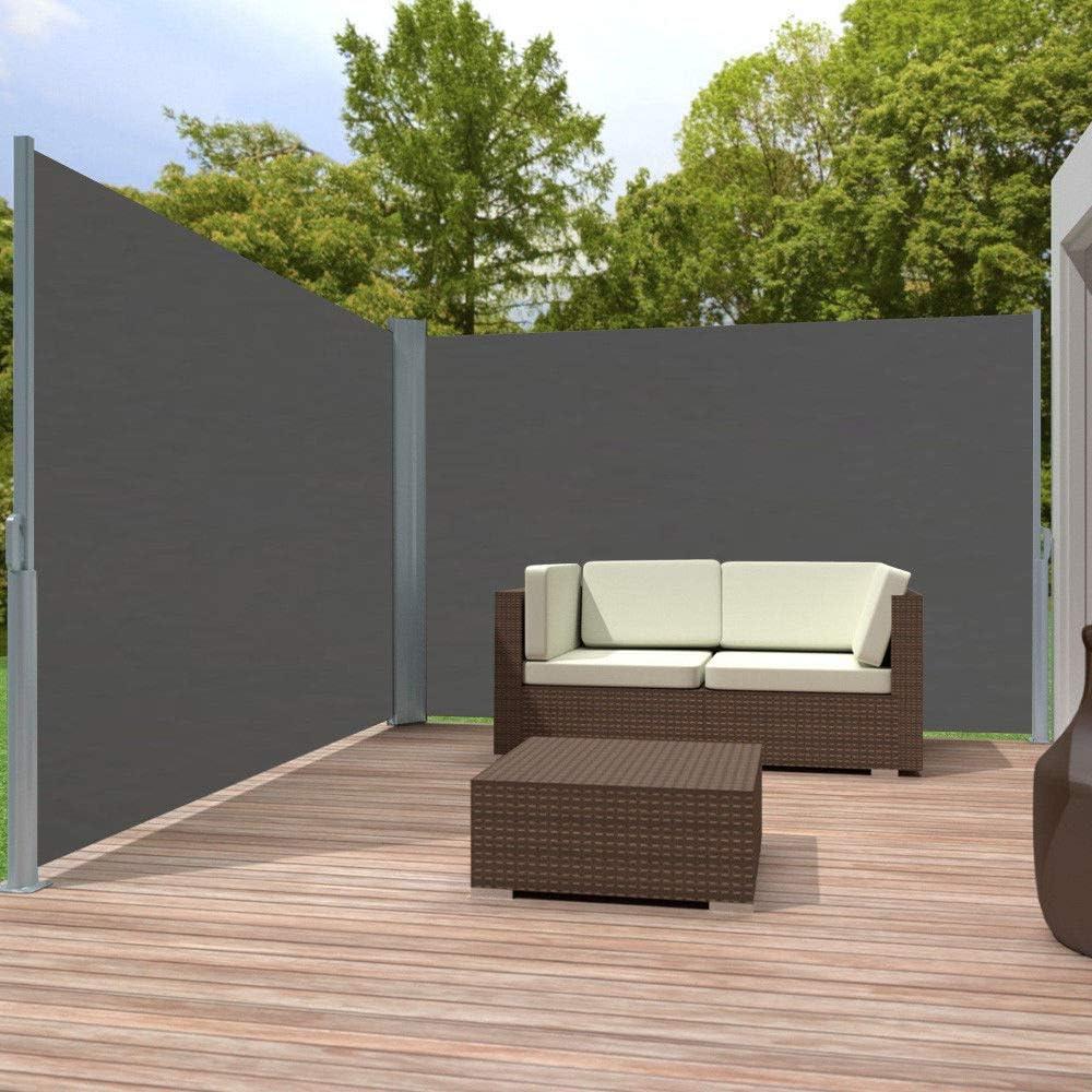 Antracite//Beige//Grigio Giardino in Poliestere paravento terrazza Campeggio Aufun per Balcone Tenda Parasole Estensibile 160//180//200 x 600 cm