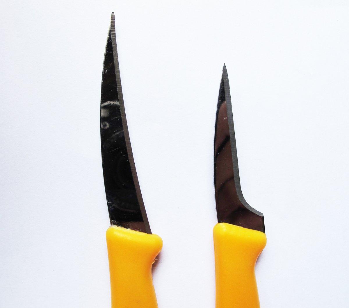 Set Fruit Carving Knife Plastic Handle Yellow.02.5 inch 2 Pcs. of Thailand by Jaguar (Image #2)