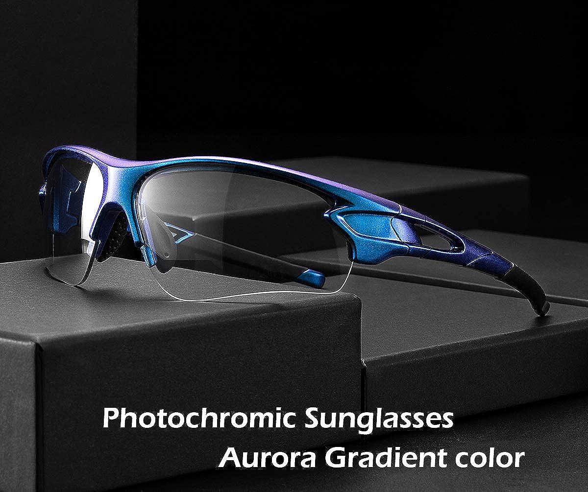 RockBros Cycling Glasses Bike Photochromatic Rimless Sunglasses UV400 Goggles