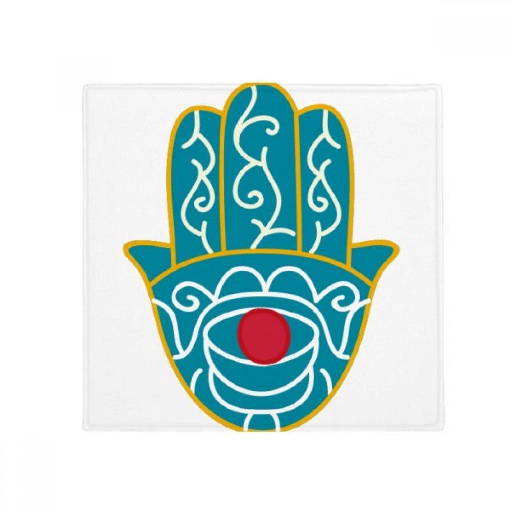 DIYthinker Egypt Pattern Hand Red Eye Art Pattern Anti-Slip Floor Pet Mat Square Home Kitchen Door 80Cm Gift