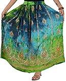 SNS Rayon Tie Dye Sequin Long Maxi Evening Beach Skirt