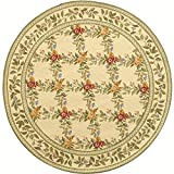 Safavieh Chelsea Collection HK60A Hand-Hooked Ivory Premium Wool Round Area Rug (8′ Diameter) Review