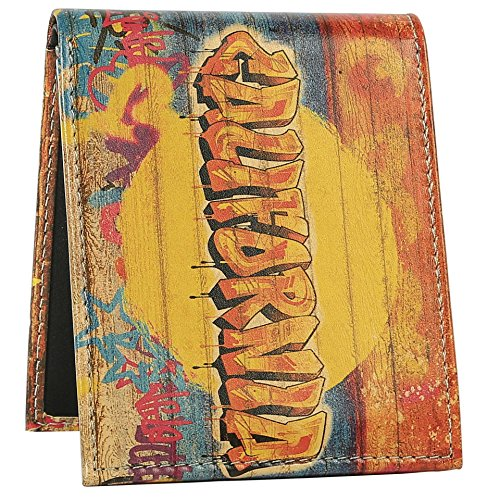 Graffiti Wallet - Bifold Trifold Artisan Leather Wallets for Men With 2 ID Windows - Durable Designs and Graphics
