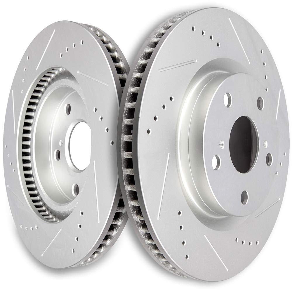 High Perfitmance Drilled Slotted Rotors Brake Discs Kits fit Lexus ES300h,Lexus ES350,Pontiac Vibe,Scion tC,Toyota Avalon,Toyota Camry,Toyota Matrix,Toyota RAV4,Front SCITOO Brake Rotors