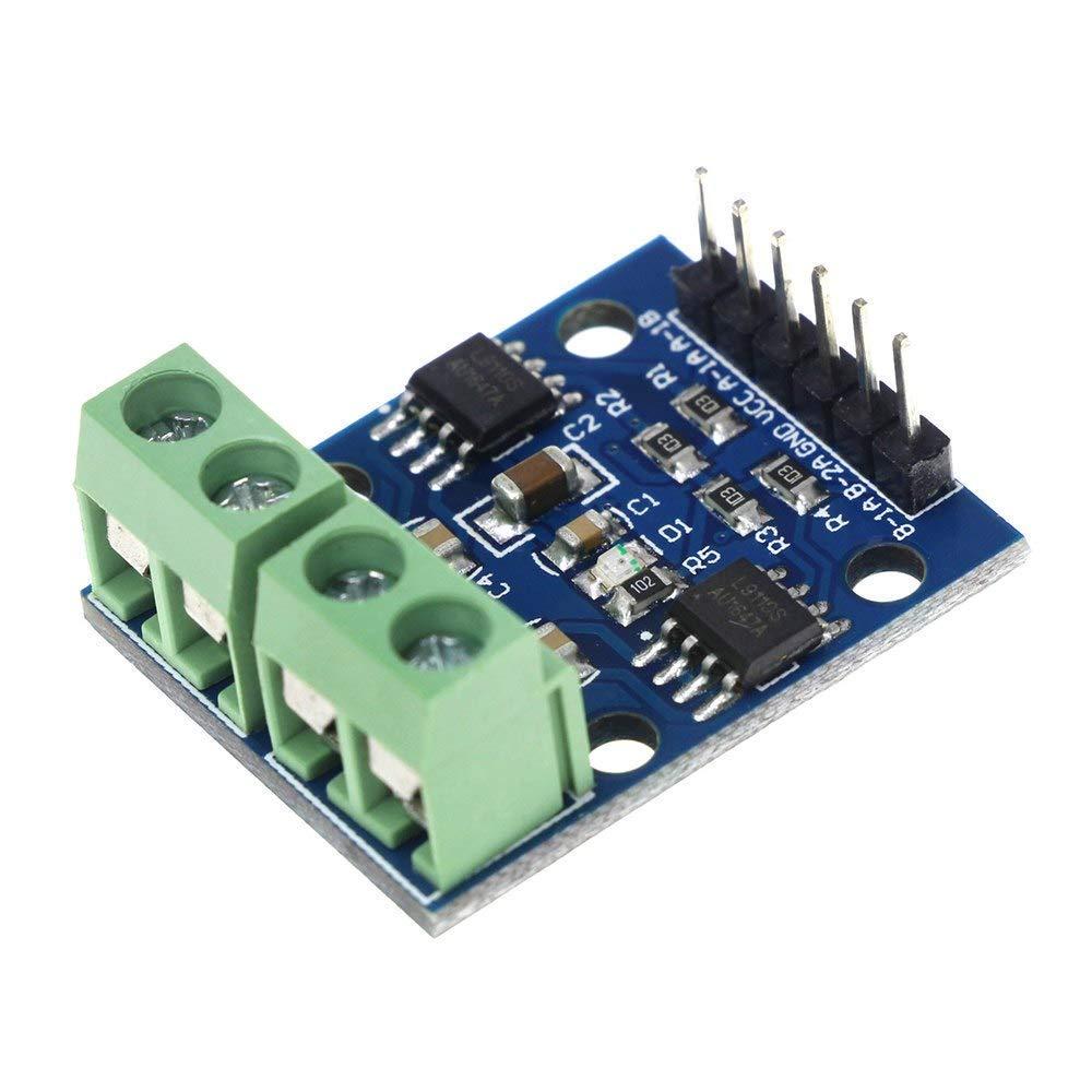 5pcs L9110S DC Motor Drive Module Stepper Motor Drive Controller Board 2.5-12V H-bridge pu/ò azionare doppio motore DC allo stesso tempo o 4 fili 2 Fase motore passo-passo