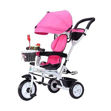 Bicicleta 4-en-1 para bebés de 1-3-6 años Triciclo