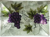 Angelstar 19104 Vineyard Grape Rectangle Plate, 10-Inch