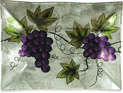 Angelstar 19104 Vineyard Grape Rectangle Plate, 10-Inch by Angel Star