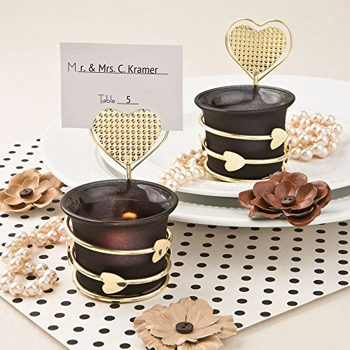 72 Heart / Love Themed Candle Votive Holders with Placecard or Photo Holders by Fashioncraft