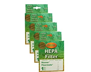 (4) Hoover Tank Pleated Floormate 3000/3030, Recovery w/activated Charcoal Filter, Hard Floor Cleaners, H3000, H3010, H3044, HR-1890